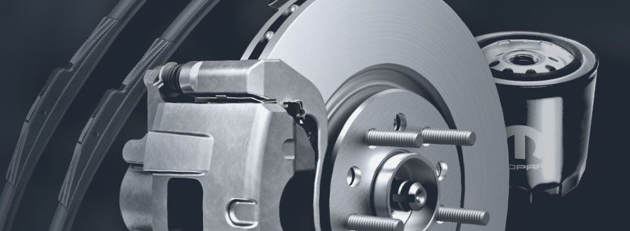 A picture of automotive brakes